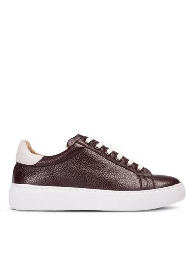Deery Hakiki Deri  Sneakers Bordo